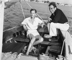 Humphrey Bogart and Lauren Bacall Sail on the Santana
