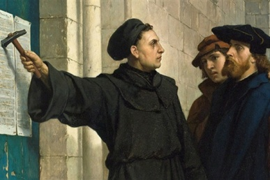 Martin Luther Nails 95 Theses
